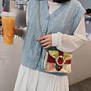 Χαμηλού Κόστους Τσάντες χιαστί-Γυναικεία PU Σταυρωτή τσάντα Συμπαγές Χρώμα Ανθισμένο Ροζ / Ασημί / Θαλασσί