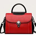 olcso Zsák táskák-női táskák nappa bőr hordtáska piros / fekete / zöld