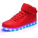 Χαμηλού Κόστους Αντρικά Αθλητικά Παπούτσια-Ανδρικά Φωτιστικά παπούτσια PU Ανοιξη καλοκαίρι LED / Καθημερινό Αθλητικά Παπούτσια Αναπνέει Μαύρο / Λευκό / Κόκκινο / Πάρτι & Βραδινή Έξοδος / Πάρτι & Βραδινή Έξοδος