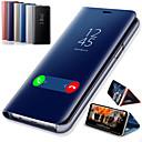 お買い得  携帯電話ケース-ケース 用途 OnePlus OnePlus 6 / One Plus 6T スタンド付き / メッキ仕上げ / ミラー フルボディーケース ソリッド ハード PUレザー
