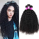 hesapli Gerçek Saç Örgüleri-3 Paket Düz Brezilya Saçı Kinky Curly Kökten Saç İnsan saç örgüleri Paketi Saç Gerçek Saç Postişleri 8-28 inch Doğal Renk İnsan saç örgüleri En iyi kalite Yeni gelen Büyük indirim İnsan Saç Uzantıları