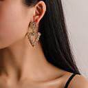 ราคาถูก ตุ้มหู-สำหรับผู้หญิง Drop Earrings ทางเรขาคณิต ง่าย เกี่ยวกับยุโรป อินเทรนด์ แฟชั่น ที่ทันสมัย ต่างหู เครื่องประดับ สีทอง / สีเงิน / Rose Gold สำหรับ ทุกวัน Street ทำงาน คลับ เทศกาล 1 คู่