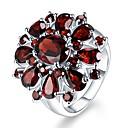 ราคาถูก รองเท้าแตะผู้หญิง-สำหรับผู้หญิง แหวน สังเคราะห์ทับทิม 1pc สีเงิน ทองแดง Stylish ทุกวัน เครื่องประดับ อารมณ์