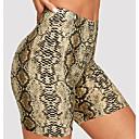 ราคาถูก ความปลอดภัยและการเอาชีวิตรอด-สำหรับผู้หญิง ซึ่งทำงานอยู่ สกินนี่ กางเกงขาสั้น กางเกง - ลายงู สีเหลือง สีเขียวอ่อน L XL XXL