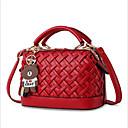 ราคาถูก กระเป๋า Totes-สำหรับผู้หญิง ซิป PU กรเป๋าหิ้ว สีดำ / สีม่วง / สีแดงชมพู