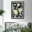 Χαμηλού Κόστους Εκτυπώσεις σε Κορνίζα-Καμβάς σε Κορνίζα Σετ σε Κορνίζα - Ζώα Άνθινο / Βοτανικό Πλαστικό Εικόνα Wall Art