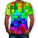 povoljno Osobna zaštita-Majica s rukavima Muškarci Dnevno 3D / Duga Okrugli izrez Print Duga / Kratkih rukava