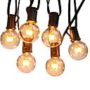 baratos Almofadas para Alianças-6,8 m Cordões de Luzes 50 LEDs Branco Quente Decorativa 220-240 V 1conjunto