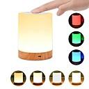 povoljno Dekor i noćno svjetlo-1pc usb 5v noćno svjetlo dodir svjetiljka za spavaće sobe dnevni boravak prijenosni stol noćne svjetiljke s punjivim unutarnje baterije dimmable 2800k-3100k toplo bijelo svjetlo mijenja boju rgb