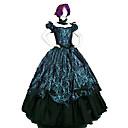 ราคาถูก เสื้อผ้าประวัติศาสตร์และวินเทจ-เจ้าหญิง Rococo Victorian หนึ่งชิ้น ชุดเดรส Party Costume เครื่องแต่งกาย สำหรับผู้หญิง ฝ้าย เครื่องแต่งกาย เขียวเข้ม Vintage คอสเพลย์ เสื้อผ้าที่สวมไปงานเต้นรำสวมหน้ากาก พรรคและเย็น เสื้อไม่มีแขน