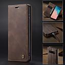 billige Samsung-tilbehør-Etui Til Samsung Galaxy Galaxy S10 / Galaxy S10 Plus / Galaxy S10 E Lommebok / Kortholder / med stativ Heldekkende etui Ensfarget Hard PU Leather