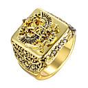 povoljno Muško prstenje-Muškarci Prsten 1pc Zlato Srebro Legura Vojni Dar Dnevno Jewelry Skulptura obiteljski grb