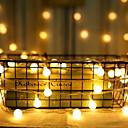 billiga Bergkristall&Dekorationer-2m Ljusslingor 10 lysdioder Varmvit Dekorativ AA Batterier Drivs 1set