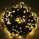 ราคาถูก สายไฟ LED-5ม. ไฟสาย 20 ไฟ LED 1 ตั้งวงเล็บยึด ขาวนวล / ขาวเย็น / RGB Waterproof / พลังงานแสงอาทิตย์ / ปาร์ตี้ พลังงานแสงอาทิตย์ 1set