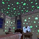 ราคาถูก ของเล่นแมว-บล็อกที่เชื่อมต่อกัน เปล่งประกาย สติกเกอร์ประตู Star Galaxy Starry Sky ทิวทัศน์ 100 pcs Toy ของขวัญ