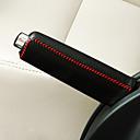 ราคาถูก DIY ตกแต่งภายในรถยนต์-สากลสีดำสีแดงรถเกียร์ออโต้เปลี่ยนเบรกมือเบรกมือปกตาราง leatherwear ปก