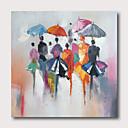 ราคาถูก ภาพวาดแอบสแตรก-มือวาดภาพสีน้ำมันยืดผ้าใบพร้อมที่จะแขวนสไตล์นามธรรมพาเลทมีด streetscape
