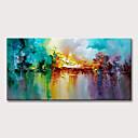 billige Abstrakte malerier-Hang malte oljemaleri Håndmalte - Abstrakt Blomstret / Botanisk Klassisk Moderne Uten Indre Ramme