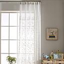 ราคาถูก ม่านปรับแสง-ร่วมสมัย Sheer หนึ่งช่อง Sheer ห้องนั่งเล่น   Curtains / วิธีลงลวดลายลงในเนื้อผ้า