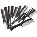 billige Hårpleie og styling-10pcs hår styling kam sett profesjonelle black brush frisører