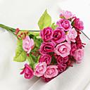 ราคาถูก ดอกไม้ประดิษฐ์-ดอกไม้ประดิษฐ์ 1 สาขา คลาสสิก สมัยใหม่ร่วมสมัย ทุ่งหญ้าชนบท สไตล์ กุหลาบ ดอกไม้วางบนโต๊ะ