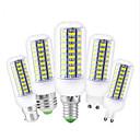 ราคาถูก หลอดไฟเกลียวLED-1pc 12 W หลอด LED รูปข้าวโพด 450 lm E14 G9 GU10 T 72 ลูกปัด LED SMD 5730 ตกแต่ง น่ารัก ขาวนวล ขาวเย็น 220 V