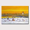 billige Abstrakte malerier-Hang malte oljemaleri Håndmalte - Landskap Abstrakte Landskap Moderne Inkluder indre ramme / Stretched Canvas