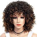 Χαμηλού Κόστους Συνθετικές περούκες χωρίς σκουφί-Συνθετικές Περούκες Afro Kinky Ελεύθερο μέρος Περούκα Μεσαίο Καφέ / Βουργουνδίας Συνθετικά μαλλιά 18 inch Γυναικεία Γυναικεία συνθετικός Για μαύρες γυναίκες Σκούρο Καφέ