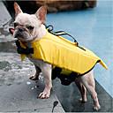 ราคาถูก อุปกรณ์เดินทางสุนัข-สุนัข แมว เสื้อชูชีพ Dog Clothes สีเหลือง สีเทา เครื่องแต่งกาย Husky สุนัข Labrador Alaskan Malamute Terylene ไนล่อน PVA สีพื้น กันน้ำ กีฬา S M L XL