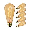 Χαμηλού Κόστους Πυράκτωσης-6pcs 40 W E26 / E27 ST64 διαφανές σώμα Λαμπτήρας πυρακτώσεως Vintage Edison 220-240 V / 110-120 V