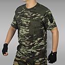 Χαμηλού Κόστους T-shirt Πεζοπορίας-Ανδρικά καμουφλάζ Tricou de Drumeție Κοντομάνικο Εξωτερική Αναπνέει Ελαστικό Άνετο Φανέλα Μπολύζες Φθινόπωρο Άνοιξη Βαμβάκι Στρογγυλή Ψηλή Λαιμόκοψη Παραλλαγή / Συμπαγές Χρώμα / Χειμώνας