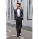 billiga Mörkläggningsgardiner-Svartvit Prick Standardpassform Bomull / Polyester Kostym - Spetsig Singelknäppt 1 Knapp / kostymer