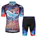 ราคาถูก ถุงมือปั่นจักรยาน-Malciklo เด็กผู้ชาย เด็กผู้หญิง แขนสั้น Cycling Jersey with Shorts - สำหรับเด็ก สีดำ ลวดลายดอกไม้ / เกี่ยวกับพฤษศาสตร์ จักรยาน ชุดออกกำลังกาย ทน UV ระบายอากาศ Moisture Wicking แห้งเร็ว แถบสะท้อนแสง