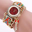 ราคาถูก สร้อยคอ-สำหรับผู้หญิง นาฬิกาสร้อยข้อมือ นาฬิกาอิเล็กทรอนิกส์ (Quartz) สไตล์วินเทจ สไตล์ ดำ / สีขาว / ฟ้า ดีไซน์มาใหม่ นาฬิกาใส่ลำลอง ระบบอนาล็อก ของโบราณ โบฮีเมียน - สีดำ ทับทิม สีน้ำเงินเข้ม / หนึ่งปี