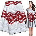 ราคาถูก African Lace-ลูกไม้แอฟริกัน สไตล์พื้นบ้าน Pattern 120-135 cm ความกว้าง ผ้า สำหรับ เครื่องแต่งกายและแฟชั่น ขาย โดย 5Yard