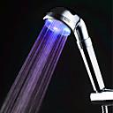 baratos Chuveiro de Mão-Cor da cabeça do chuveiro levou a mudar 2 modo de água 7 cor brilho luz mudando automaticamente chuveiro de mão