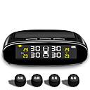 billige Dekkmålere-tpms bildekktrykksmonitor, trådløst alarmsystem for dekktrykkstyring, LCD LCD-skjerm med 4 eksterne sensorer