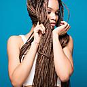 ราคาถูก วิกผมเปีย-Braiding Hair Straight แอฟริกา Kinky Braids ถักเปียผมโครเชต์ สังเคราะห์ 6 ชิ้น Braids ผม สีธรรมชาติ 28 นิ้ว ทนต่อความร้อน ถักโครเชต์กับผมมนุษย์ ผม Kanekalon 100% งานแต่งงาน สวมใส่ทั่วไป Braids