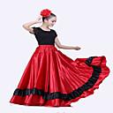 billiga Hundkläder-Latinamerikansk dans Underdelar / Flamenco Dam Prestanda Matt satäng Våd Naturlig Kjolar