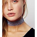povoljno Choker ogrlice-Žene Choker oglice Luksuz Imitacija dijamanta Pink Duga Svjetloplav 30 cm Ogrlice Jewelry 3pcs Za Vjenčanje Klub