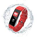 זול חכמים wristbands-Indear 115PRO נשים Smart צמיד Android iOS Blootooth Smart ספורטיבי עמיד במים מוניטור קצב לב מודד לחץ דם מד צעדים מזכיר שיחות מעקב שינה תזכורת בישיבה Alarm Clock / חיישן דופק