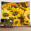 ราคาถูก ผ้าคลุมโซฟา-ธีมลายดอกไม้ ตกแต่งผนัง 100% โพลีเอสเตอร์ ที่ทันสมัย ศิลปะผนัง, ผนังสิ่งทอ เครื่องประดับ