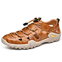 ราคาถูก รองเท้าแตะผู้ชาย-สำหรับผู้ชาย รองเท้าหนัง หนัง ฤดูร้อน Sporty / ไม่เป็นทางการ รองเท้าแตะ เดินป่า / วสำหรับเดิน ระบายอากาศ สีดำ / สีน้ำตาลอ่อน / น้ำตาลเข้ม