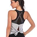 ราคาถูก เสื้อผ้ากีฬา-ชุดทำงาน เสื้อ / Yoga สำหรับผู้หญิง การฝึกอบรม / Performance Elastane / polyster กากะบาท / ข้อต่อ เสื้อไม่มีแขน เสื้อกั๊ก
