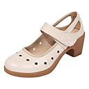 ราคาถูก รองเท้าเต้นโมเดิร์นและรองเท้าบัลเล่ต์-สำหรับผู้หญิง รองเท้าเต้นรำ หนังเทียม โมเดอร์น ส้น หนา Heel สีดำ / สีน้ำตาล / Drak Red / Performance / ฝึก