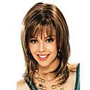 Χαμηλού Κόστους Συνθετικές περούκες χωρίς σκουφί-Συνθετικές Περούκες Φράντζες Σγουρά Πλευρικό μέρος Περούκα Μεσαίο Καφέ / Βουργουνδίας Συνθετικά μαλλιά 16 inch Γυναικεία Μοδάτο Σχέδιο Γυναικεία συνθετικός Καφέ