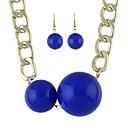 Χαμηλού Κόστους Μοδάτα Σκουλαρίκια-Γυναικεία Κρεμαστά Σκουλαρίκια Κρεμαστά Κολιέ Γεωμετρική Μπάλα Διάθεση Στυλάτο Μοντέρνο Σκουλαρίκια Κοσμήματα Μαύρο / Μπλε Για Καθημερινά 1set
