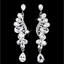 billiga Herrsmycken-Dam Dropp Örhängen kristall Lyx Elegant Diamantimitation örhängen Smycken Guld / Silver Till Bröllop Party Förlovning Nattklubb Bar en Pair