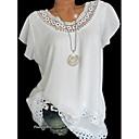 baratos Clutches & Bolsas de Noite-Mulheres Camiseta Renda, Sólido Branco / Primavera / Verão / Outono