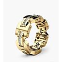 ราคาถูก แหวนผู้ชาย-สำหรับผู้ชาย สำหรับผู้หญิง แหวนมั่น 1pc สีทอง Rose Gold ทองแดง Geometric Shape Stylish การหมั้น ทุกวัน เครื่องประดับ คลาสสิค ความปิติยินดี คมมีด น่ารัก